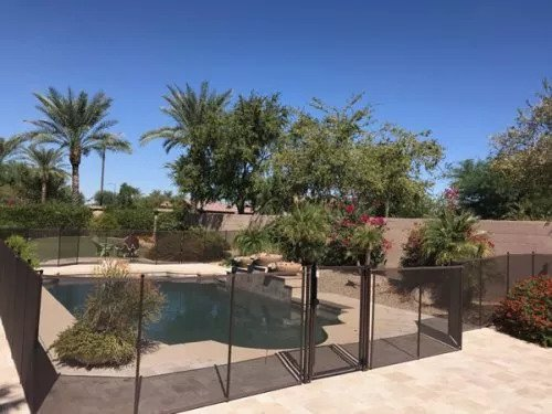 mesh pool fence Scottsdale Arizona
